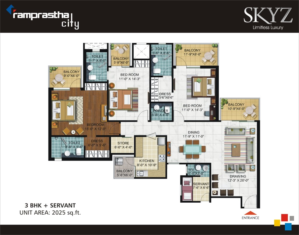 Ramprastha Skyz Floor Plan Floorplan In