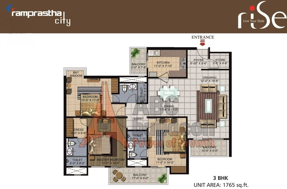Ramprastha Rise Floor Plan Floorplan In