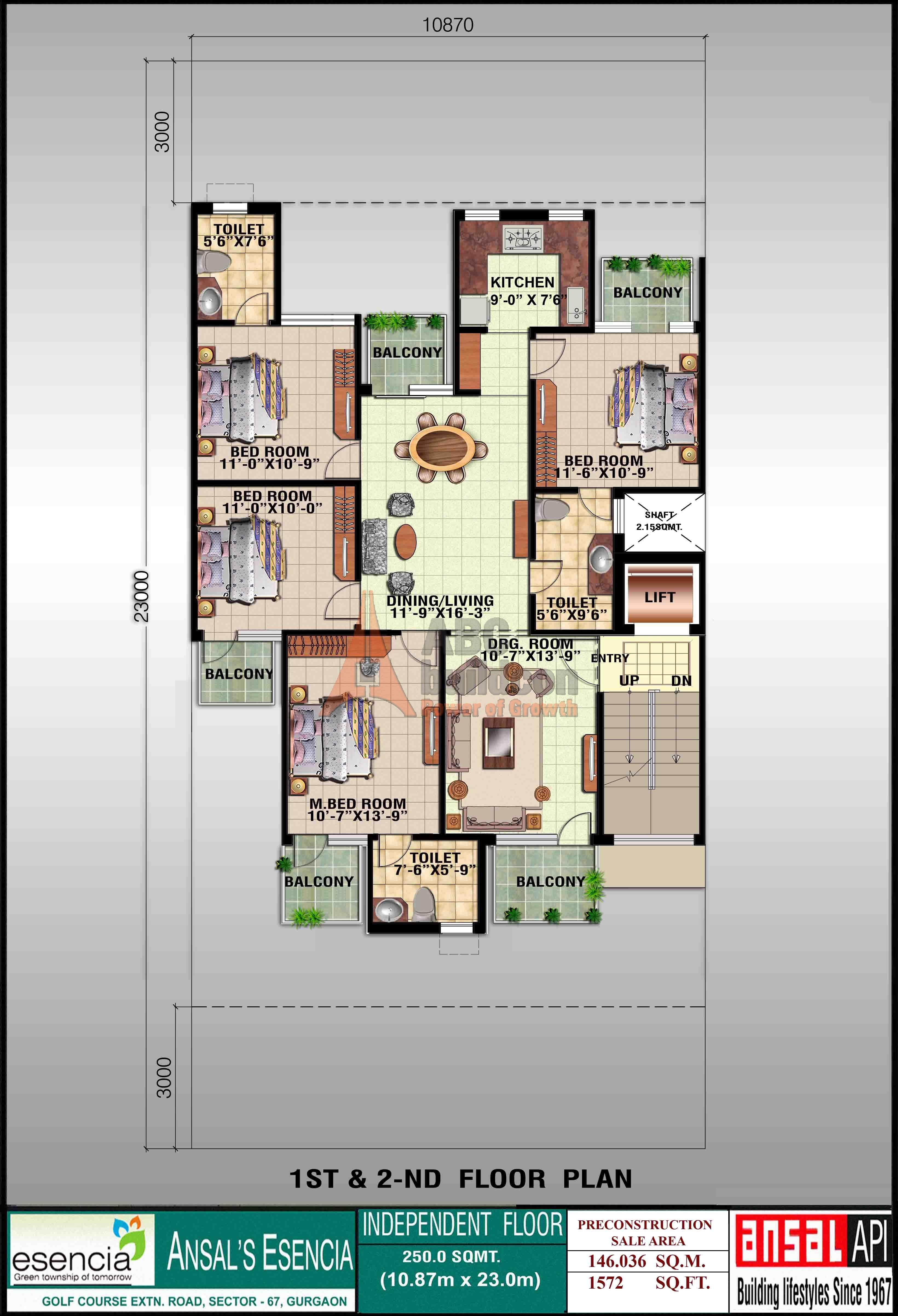 Ansal Sovereign Floor Plan - FloorPlan.in