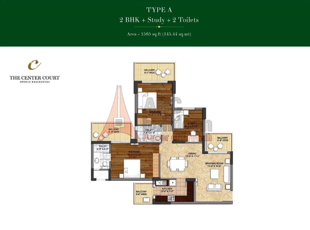 Landcraft Homes Floor Plans: Ashiana Landcraft Center Court Floor Plan