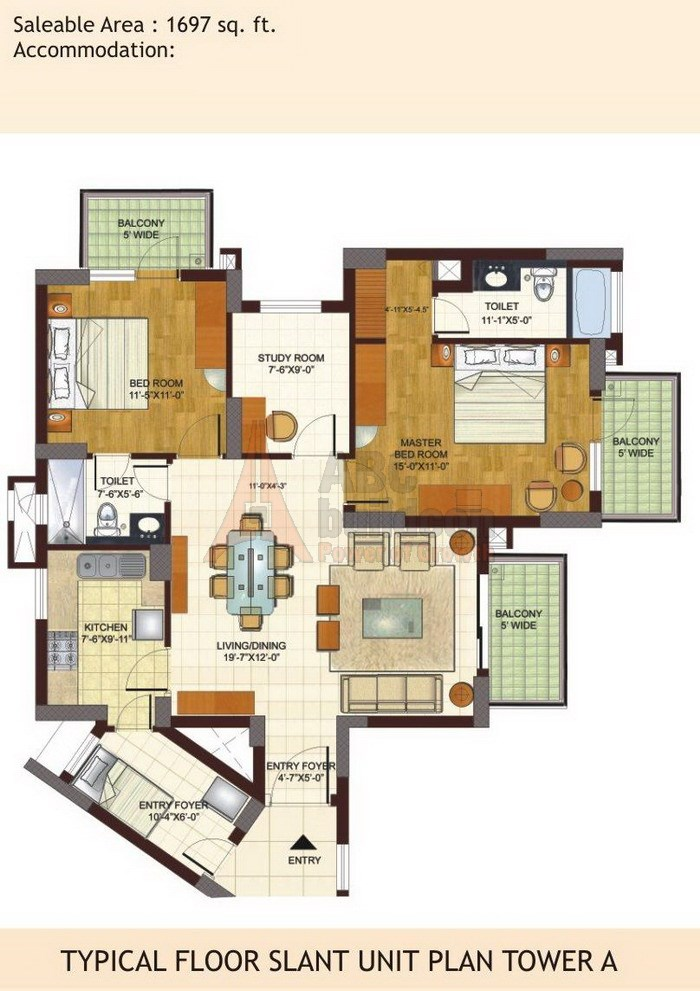 Bptp Freedom Park Life Floor Plan Floorplan In