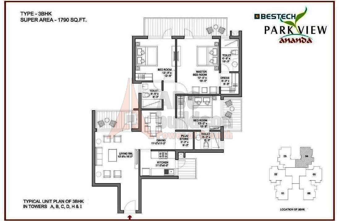 Bestech Park View Ananda Floor Plan Floorplan In