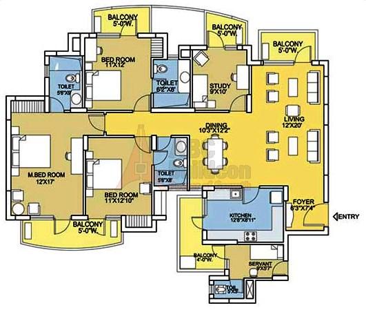 Bestech Park View City 2 Floor Plan Floorplan In