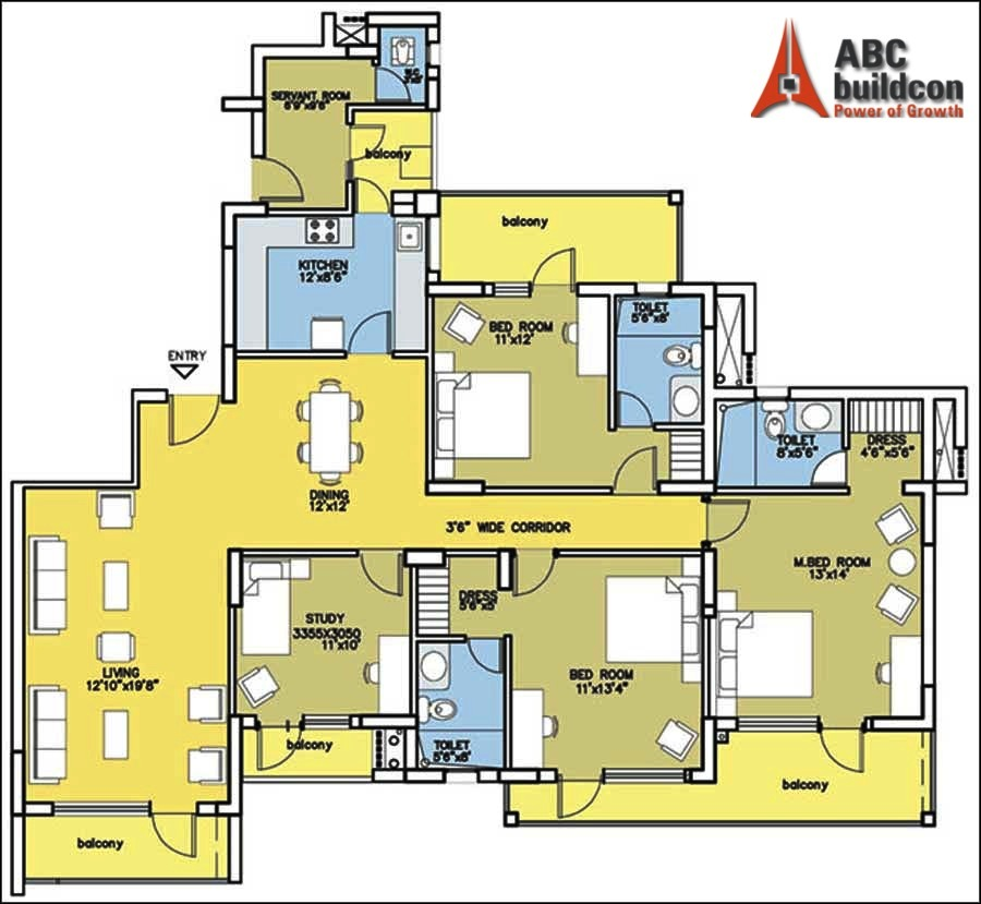 Bestech Park View City Floor Plan Floorplan In
