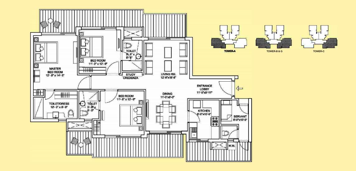 Bestech park view sanskruti floor plan for Parkview homes floor plans