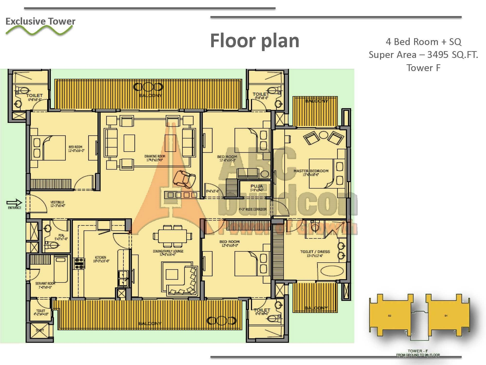 Bestech Park View Spa Floor Plan Floorplan In