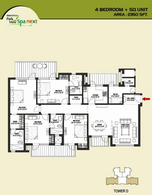 Bestech park view spa next floor plan for Parkview homes floor plans