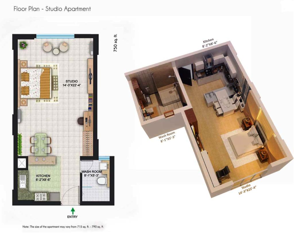 Central Park Ii The Room Floor Plan Floorplan In