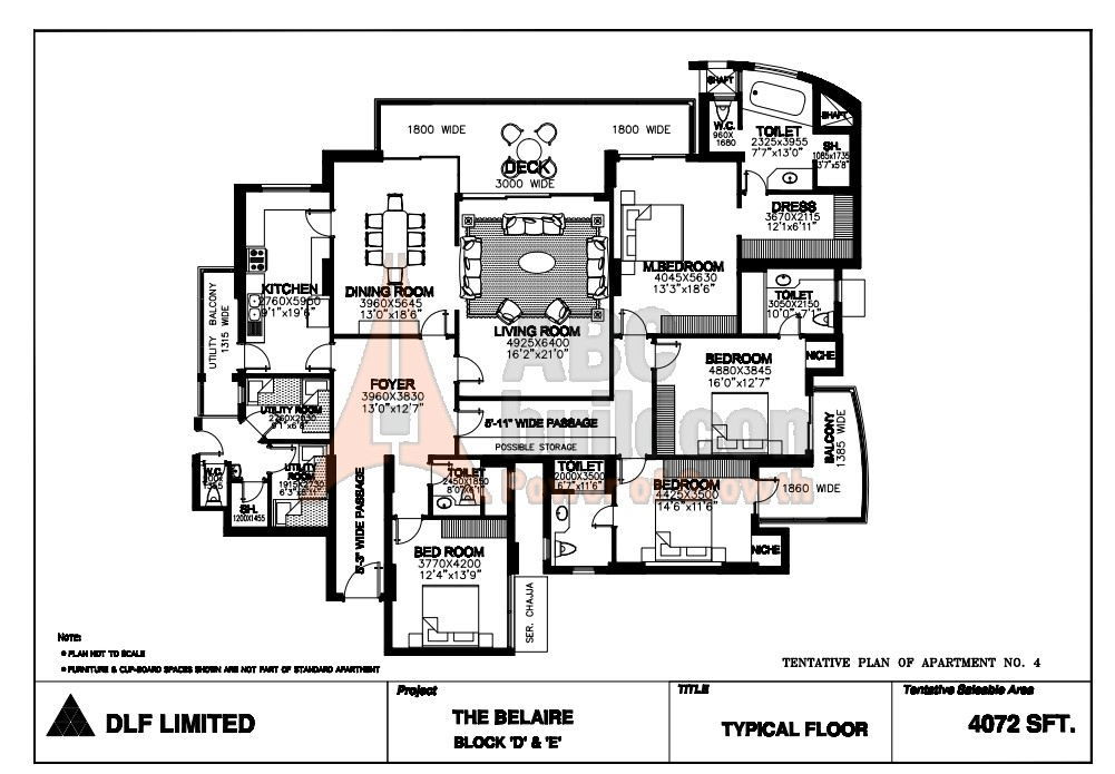 Dlf Belaire Floor Plan Floorplan In