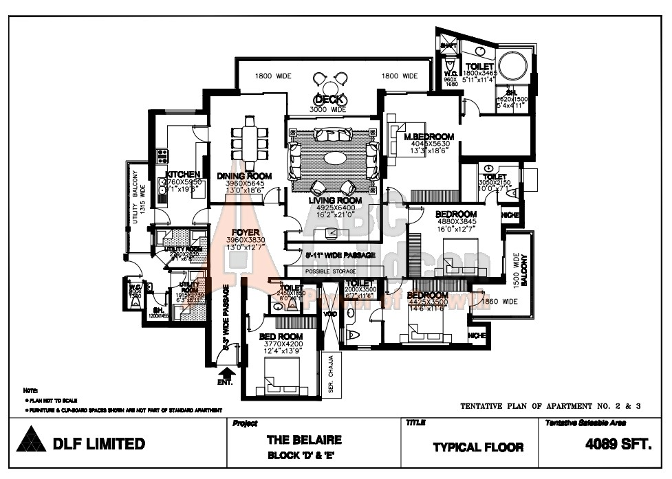 Dlf Belaire Floor Plan Floorplan In