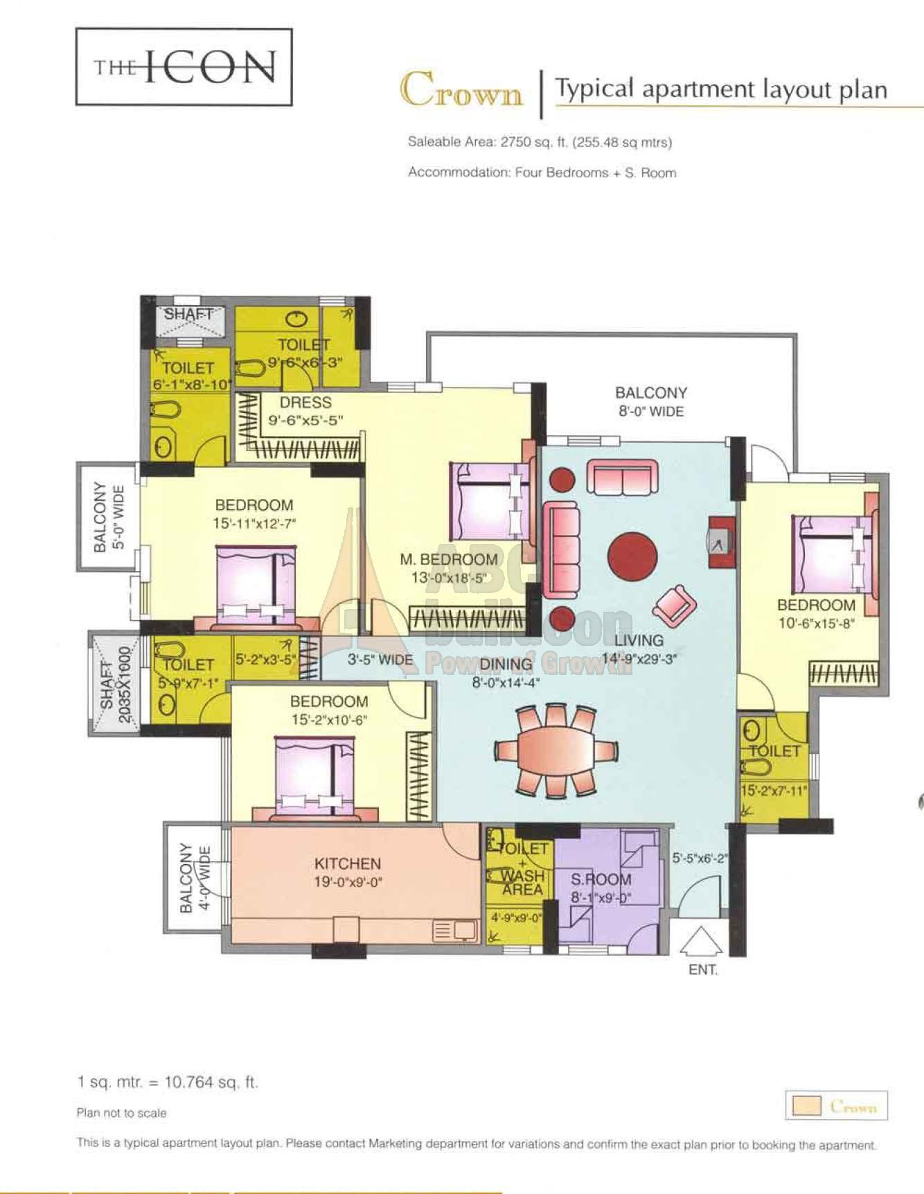 Dlf Icon Floor Plan Floorplan In