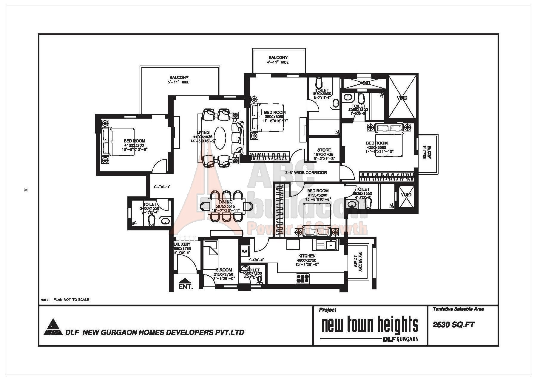 Dlf New Town Heights Floor Plan Floorplan In