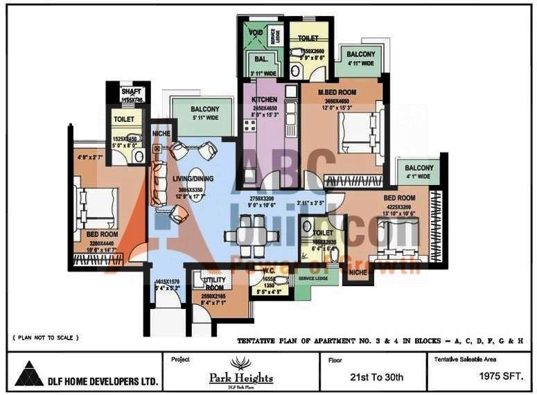 Dlf Park Place Floor Plan Floorplan In