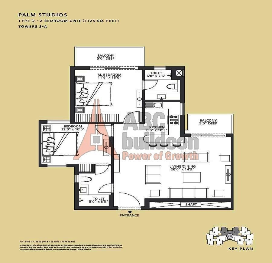 Emaar Mgf Palm Studio Floor Plan Floorplan In