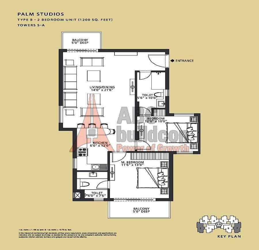 Emaar Mgf Palm Studio Floor Plan Floorplan In