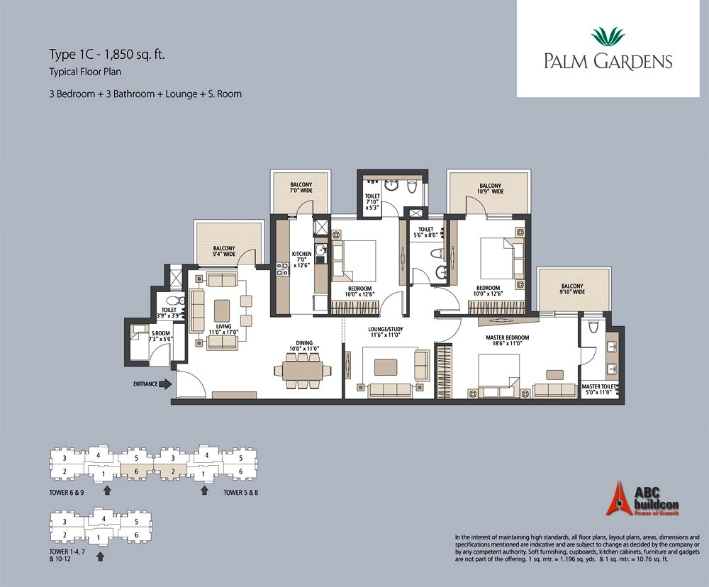 Emaar Mgf Palm Gardens Floor Plan Floorplan In