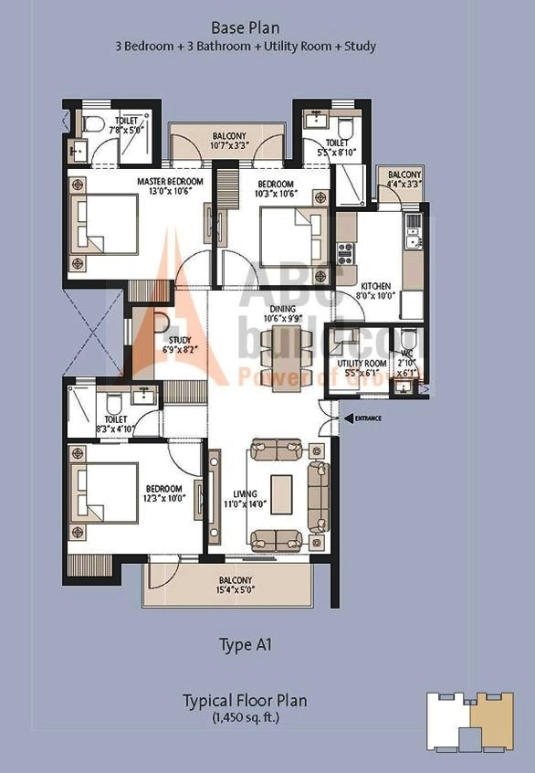Emaar mgf palm hills floor plan for Parkview homes floor plans
