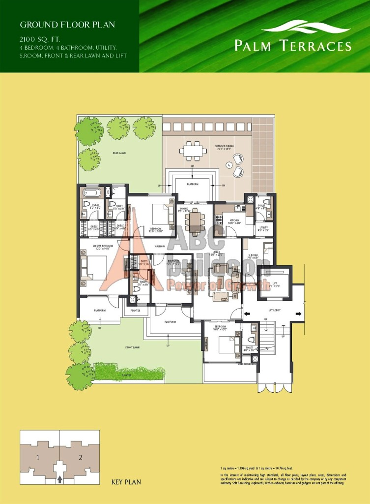 Emaar Mgf Palm Terraces Floor Plan Floorplan In