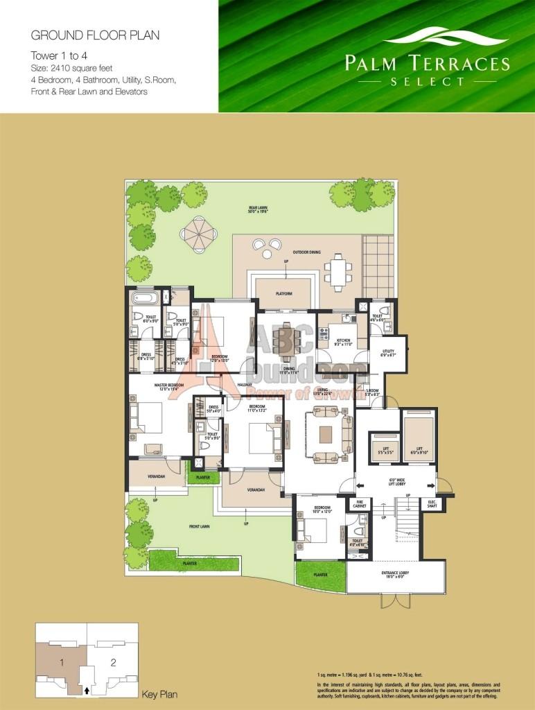 Emaar Mgf Palm Terraces Select Floor Plan Floorplan In