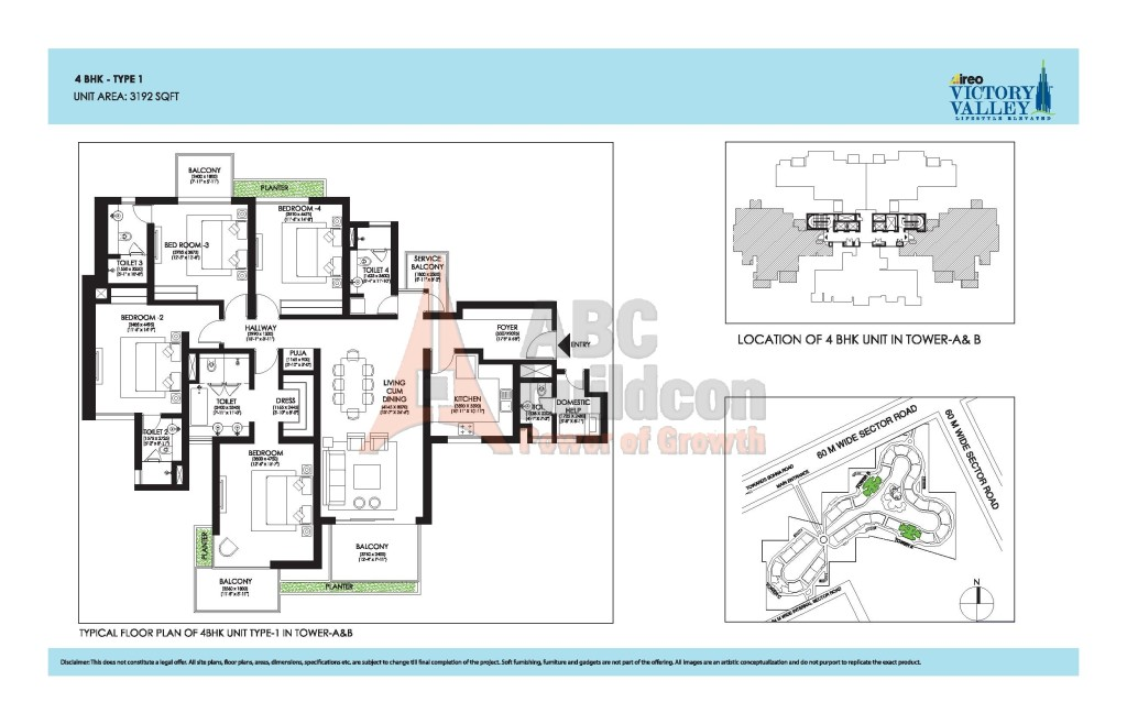 Ireo Victory Valley Floor Plan 4 Bhk S R Pooja Room