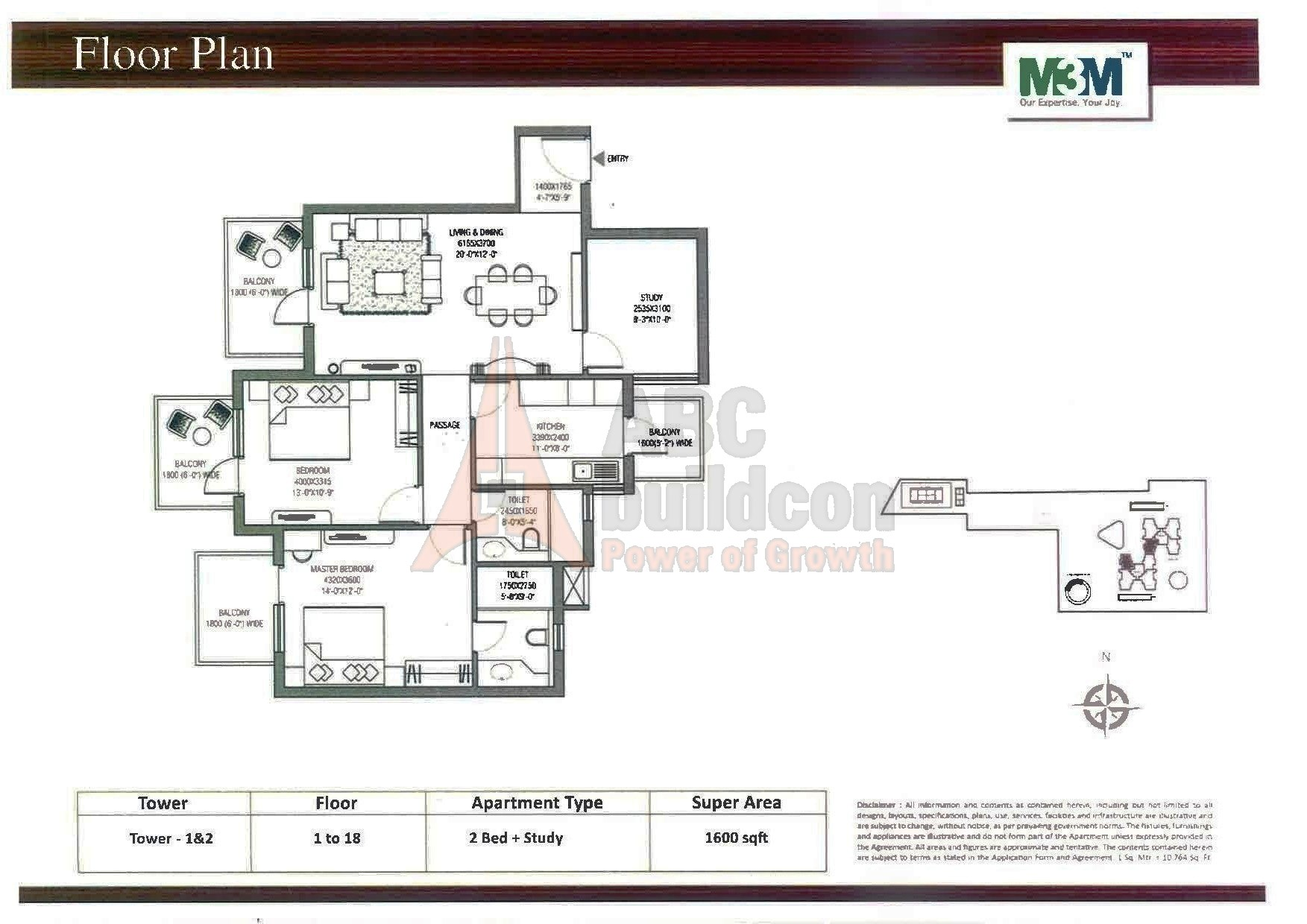 M3m Escala Floor Plan Floorplan In