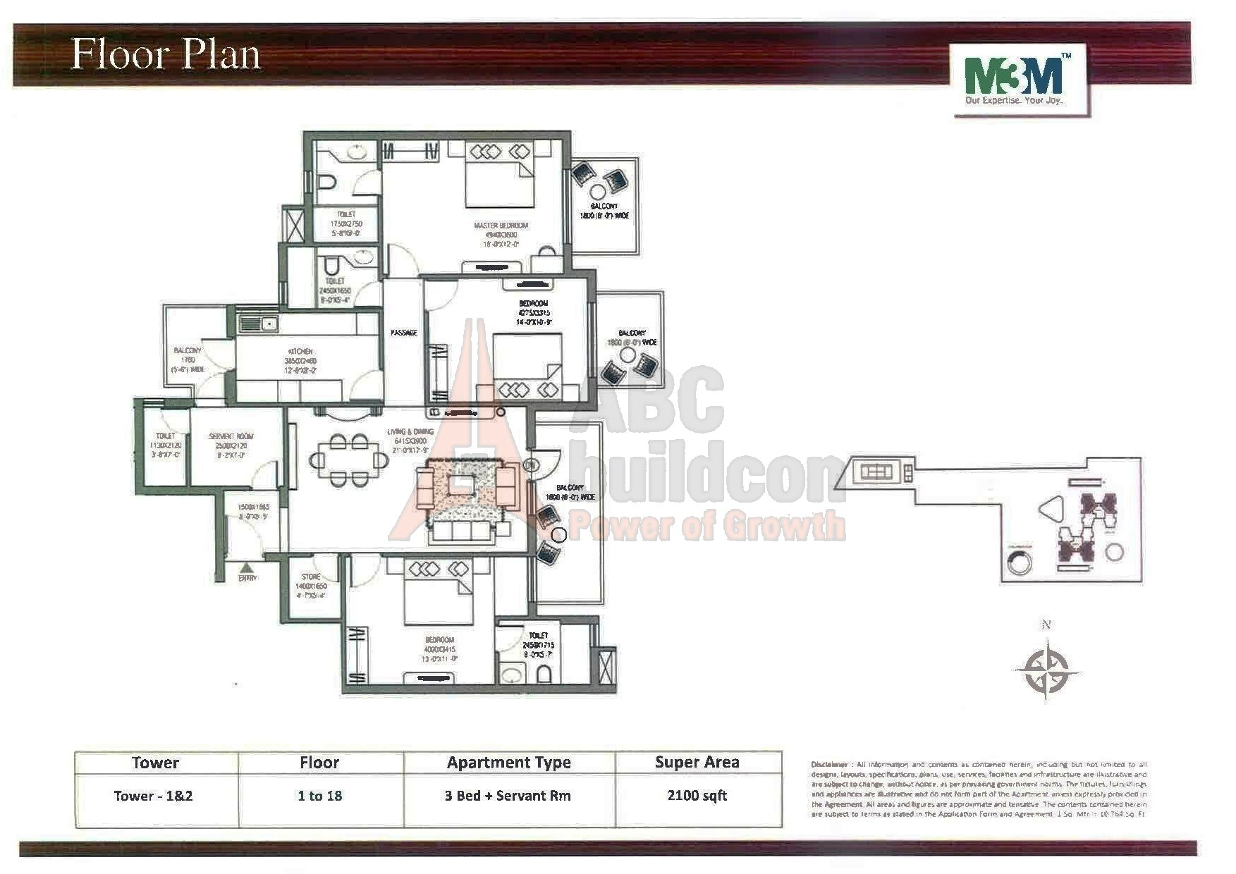 M3m Escala Floor Plan Floorplan In