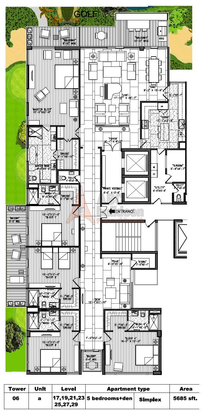 M3m Golf Estate Floor Plan Floorplan In