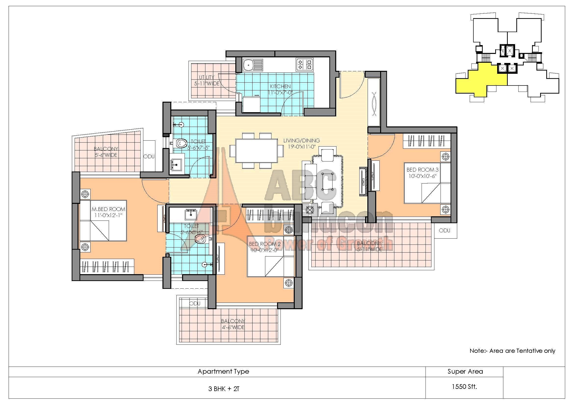 M3m Marina Floor Plan Floorplan In