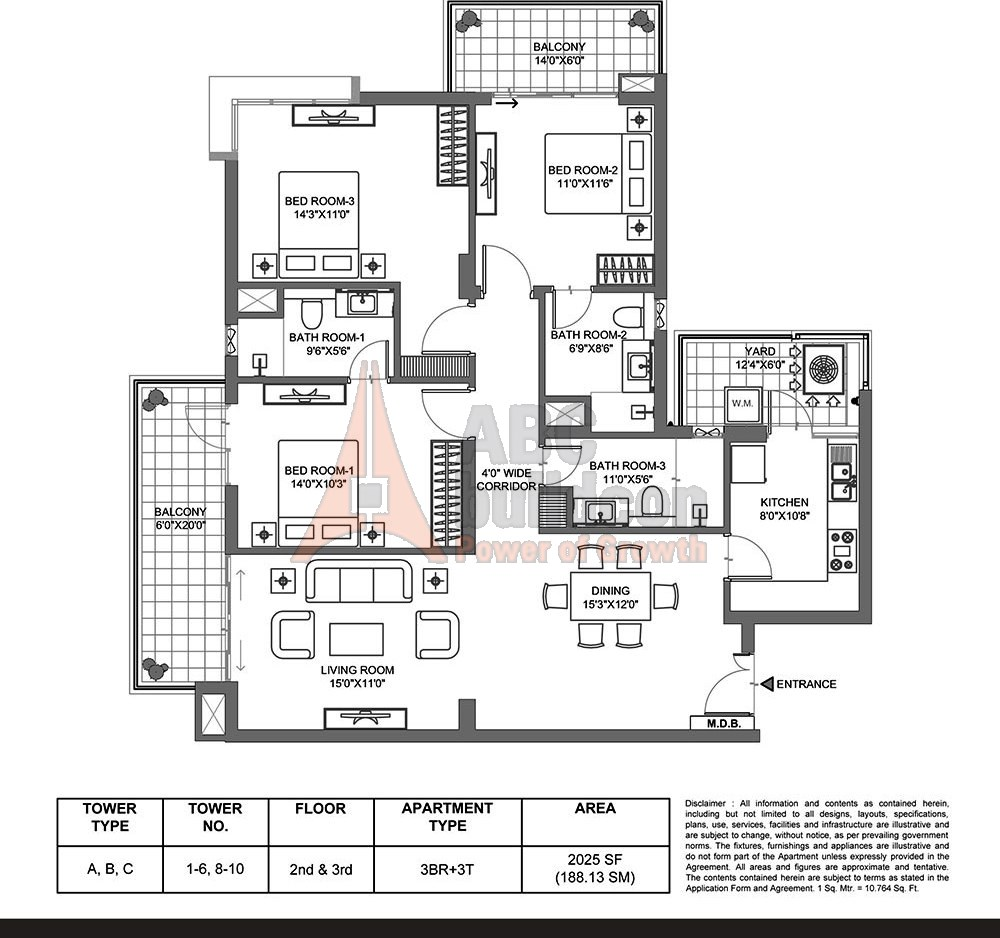 M3m Merlin Floor Plan Floorplan In