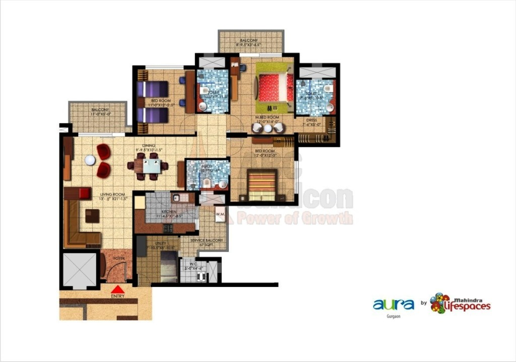 Mahindra Aura Floor Plan Floorplan In