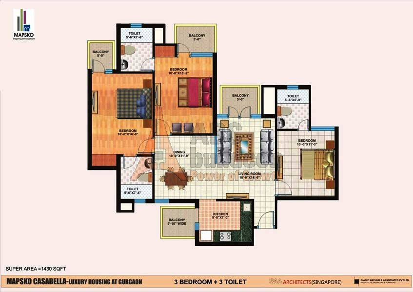 mapsko casa bella floor plan