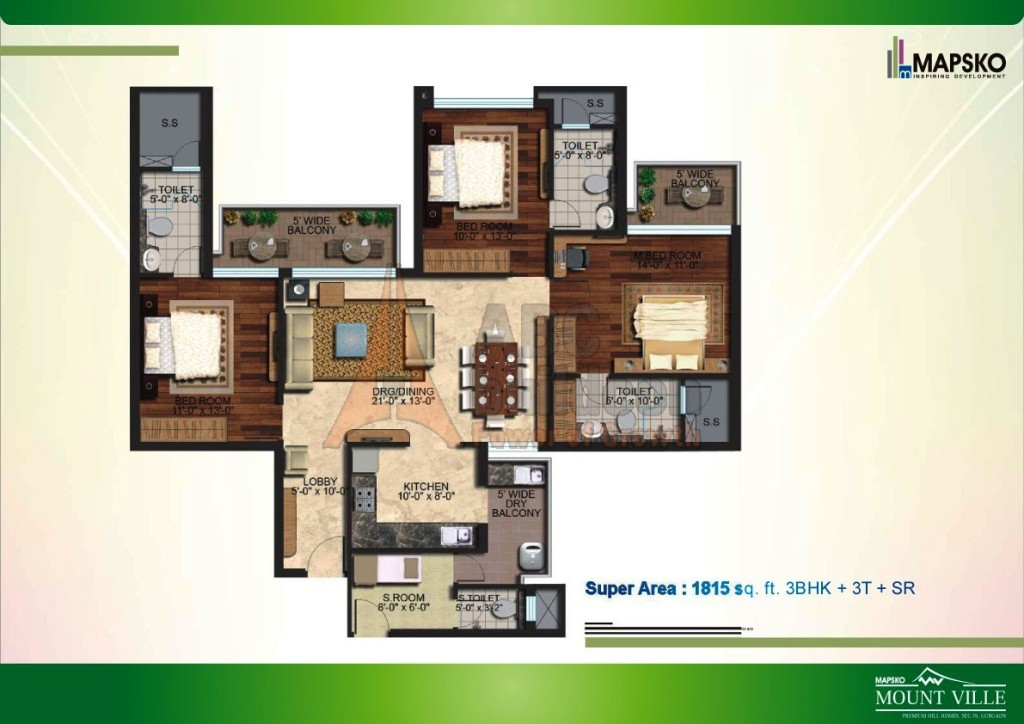 Mapsko Mount Ville Floor Plan Floorplan In