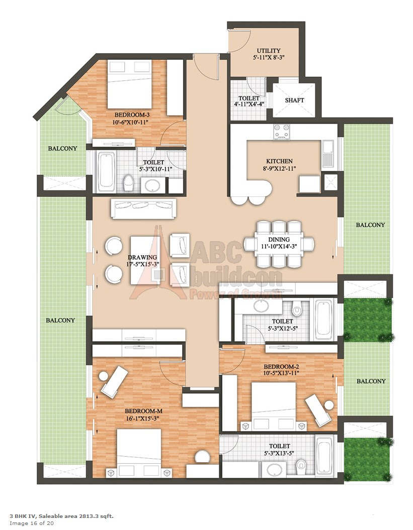 Raheja Revanta Floor Plan Floorplan In