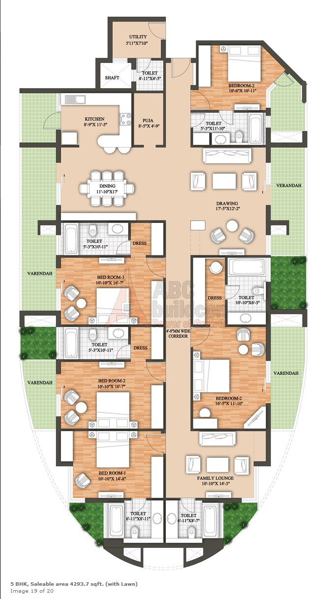 Raheja Revanta Floor Plan Floorplan In