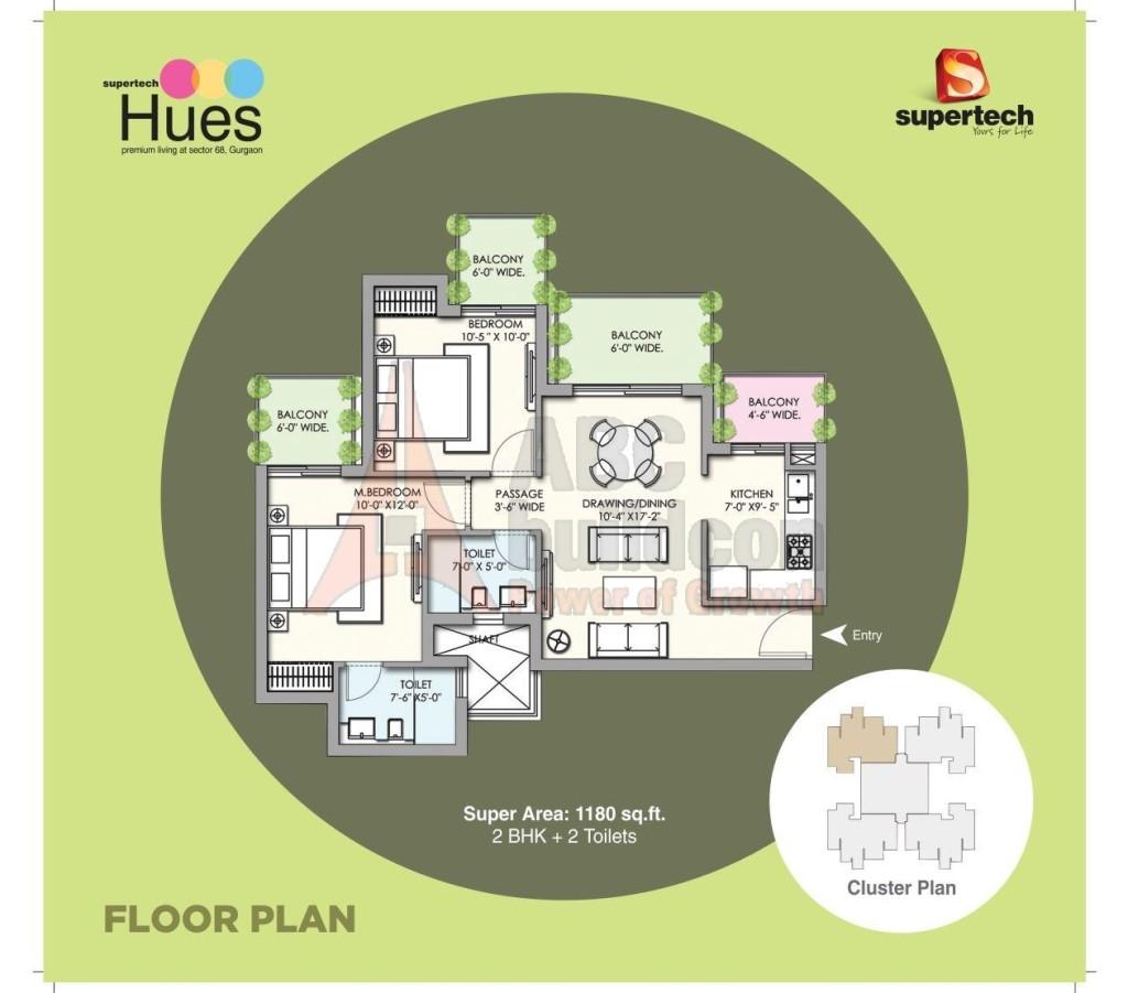 Supertech Hues Floor Plan Floorplan In