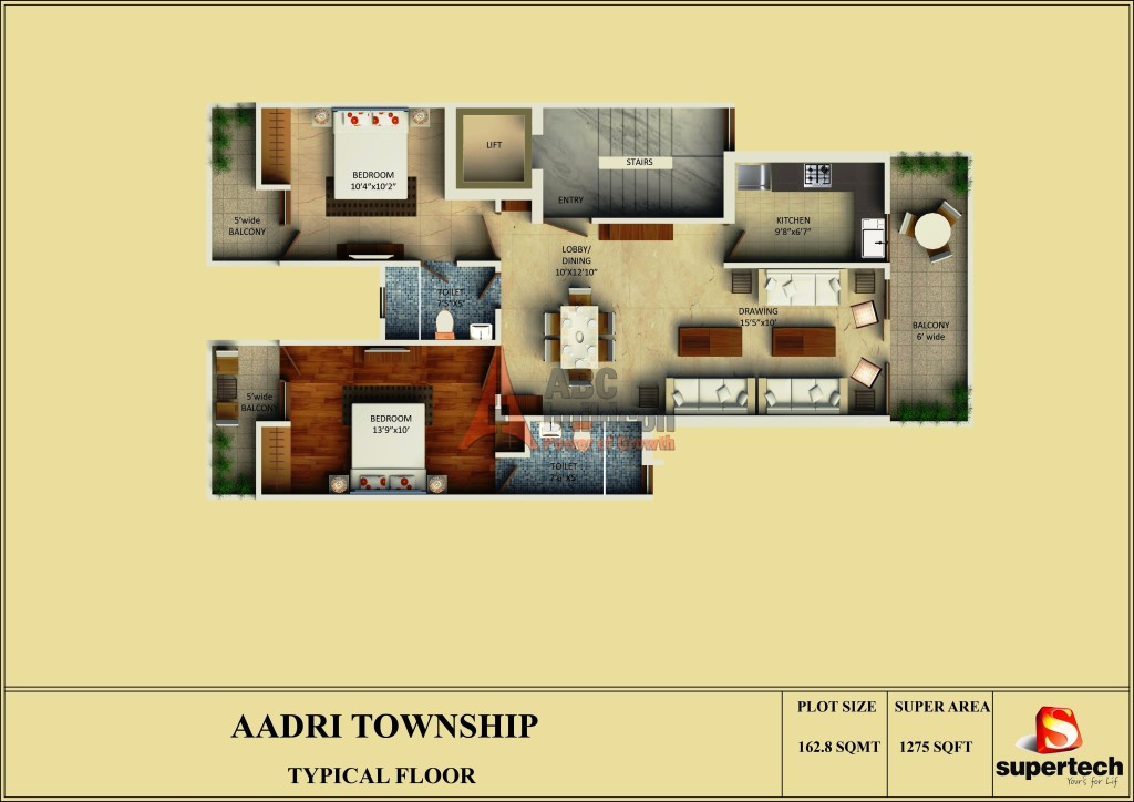 Supertech Neeladri Floor Plan Floorplan In