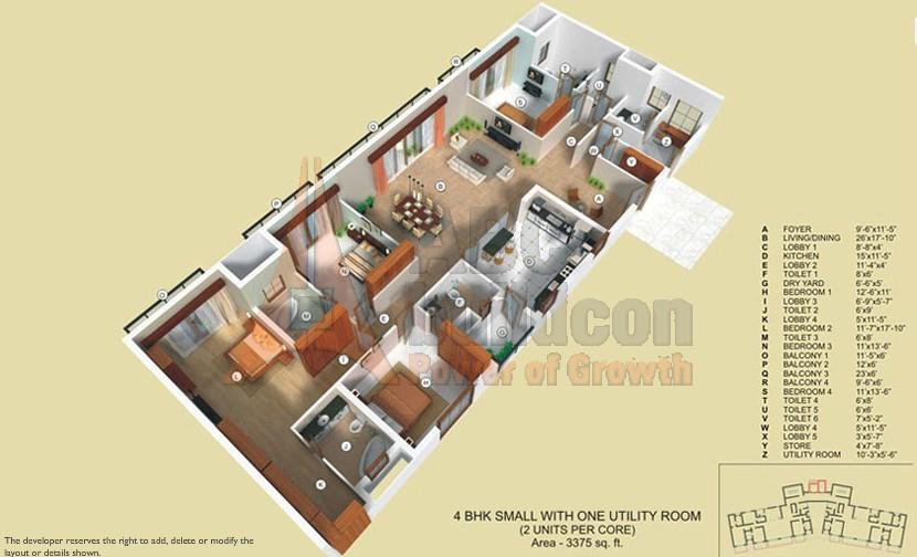 Tata Raisina Residency Floor Plan Floorplan In