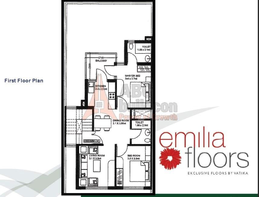Vatika Emilia Floor Plan Floorplan In