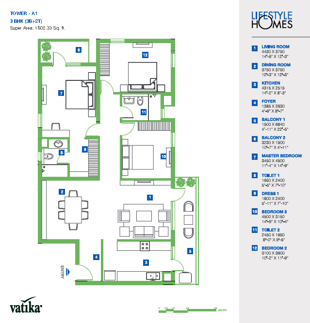 Vatika Lifestyle Homes Floor Plan FloorPlanin – Lifestyle Homes Floor Plans