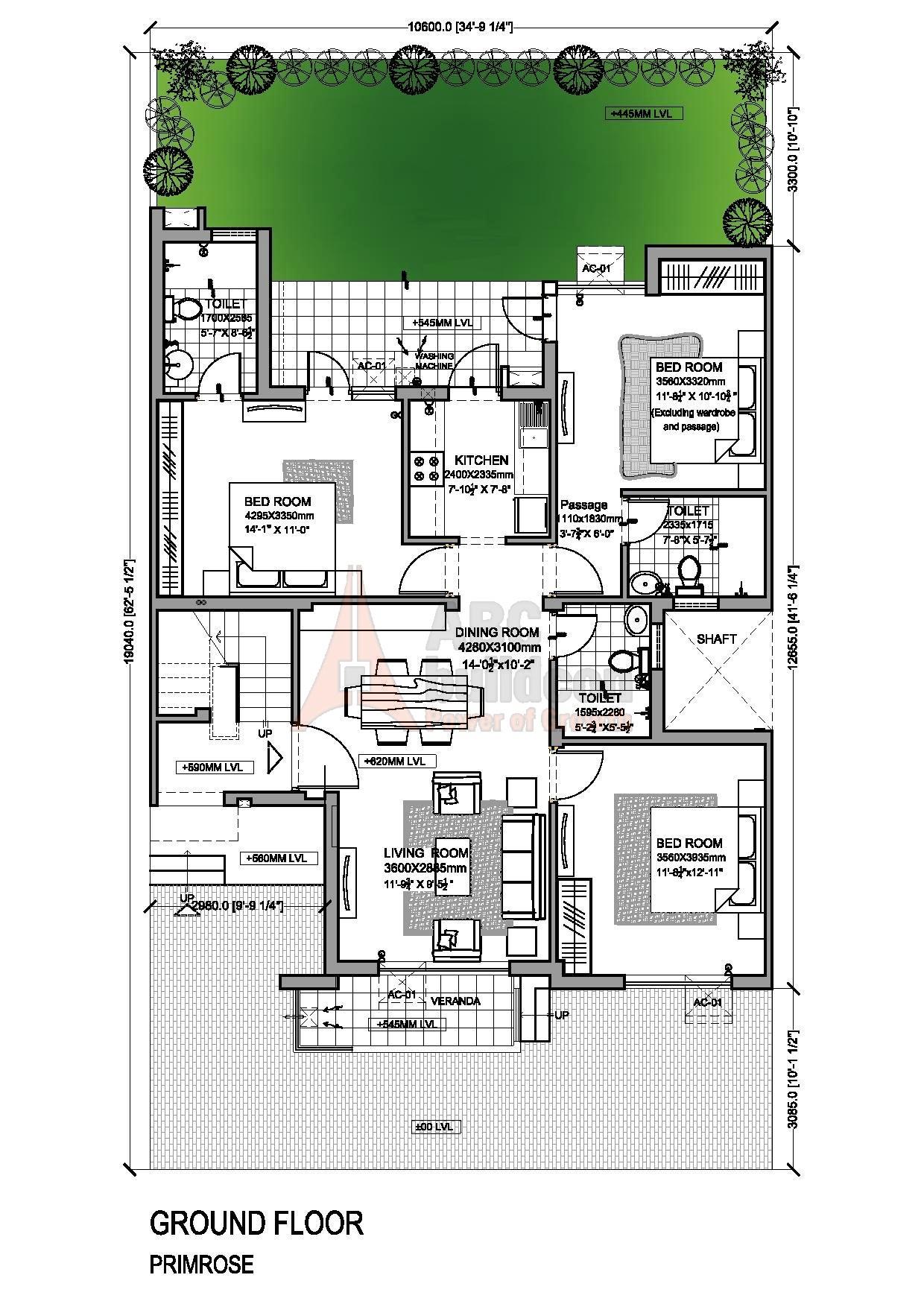 Vatika Primrose Floor Plan Floorplan In