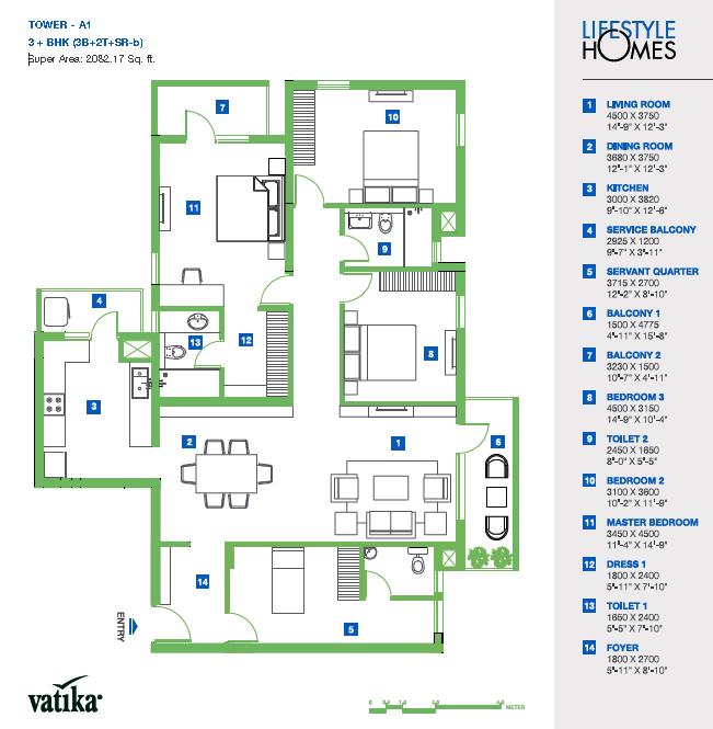vatika lifestyle homes floor plan floorplan in