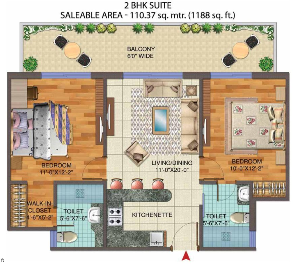 Central Park Flower Valley The Room Floor Plan Floorplan In