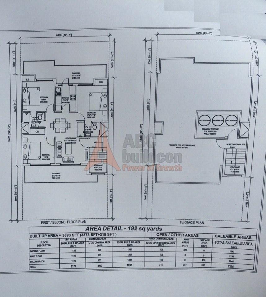 Central park 3 floors floor plan for Floor design sf